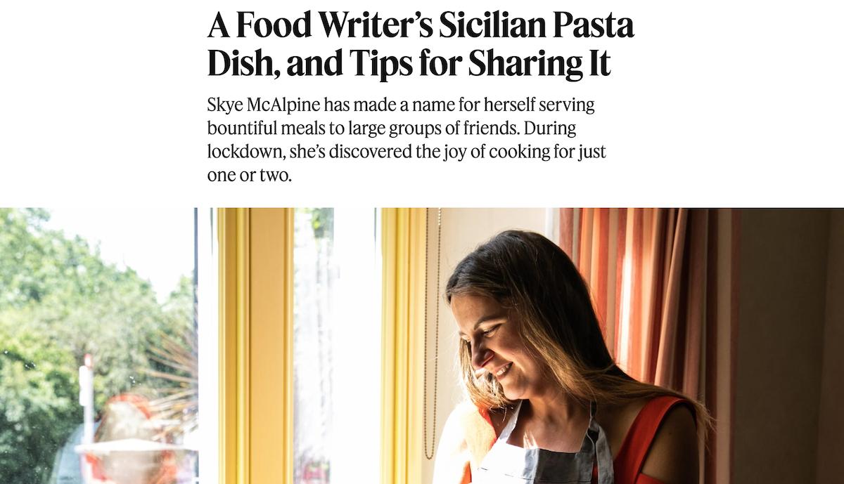 """La pasta coi """"vruocculi arriminati"""" conquista il New York Times (grazie a una chef inglese)"""